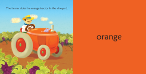 Colors of the Wine Country Orange Tractor